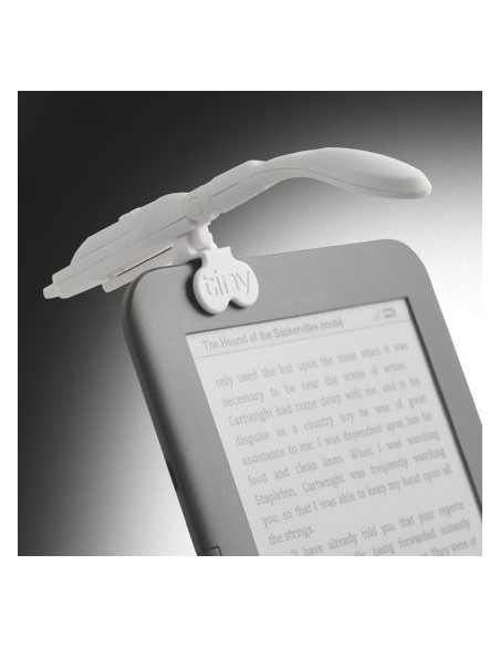 Lampka - Really Tiny Book Light with E-Reader Adapter (Biała)