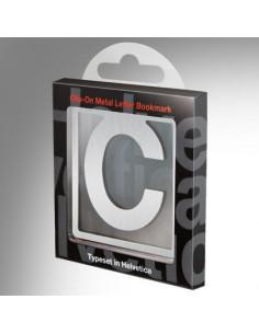 Helvetica Clip-On Bookmark Letter C