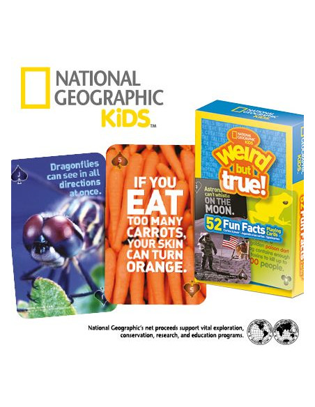 National Geographic 52 Weird But True Fun Facts Playing Cards