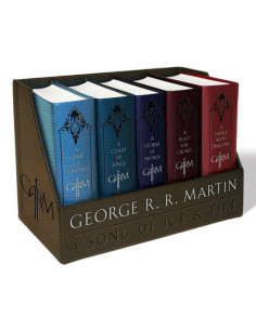 George R. R. Martin's a Game of Thrones Deluxe Leather-Cloth Boxed Set