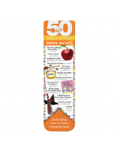 Zakładka - 50 Of The Best Books Bookmark - Before You're 5