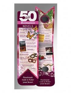 Zakładka - 50 Best Romance Novels Bookmarks