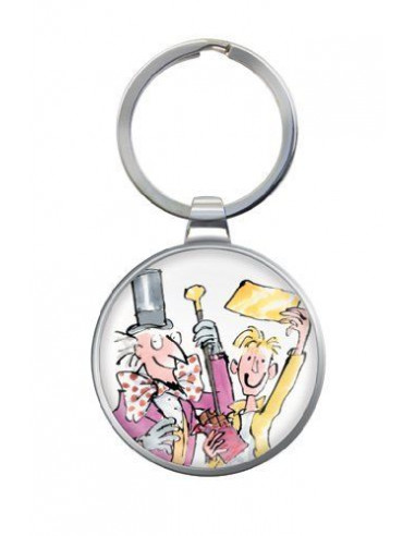 Metal Keyring - Roald Dahl  -Charlie and the Chocolate Factory