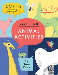 Tell: Animal Activities : With 3 Posters, 40 Stickers and Colouring + Activity Book