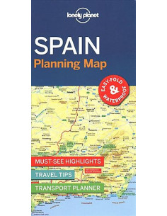 Lonely Planet Spain Planning Map