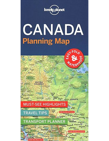 Lonely Planet Canada Planning Map