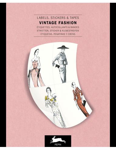 Label & Sticker Book : Vintage Fashion
